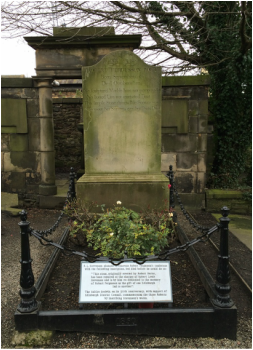 Fergusson's grave in the Canongate Kirk