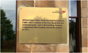Owen and Sassoon Commemorated at Craiglockhart